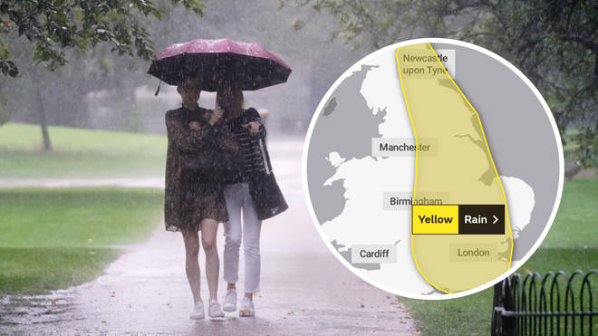 Parts of the UK are set to be battered by rain this weekend.