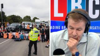 M25 eco protest delays left my mum paralysed from stroke, devastated caller tells LBC