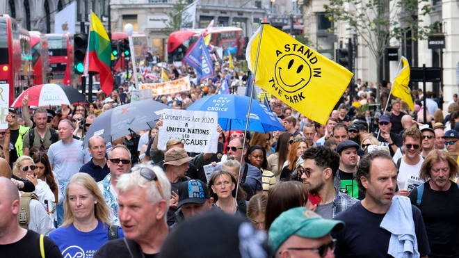 Thousands made their way through the capital in protest.