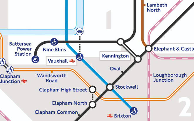 The two new stations will be open from Monday, with the first train leaving Battersea at 5:28am.