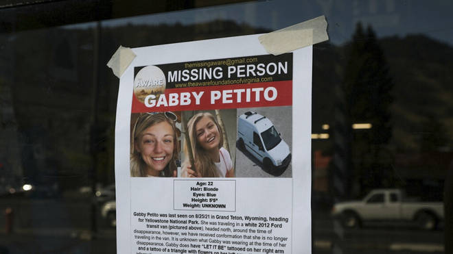 A poster appealing for information about Gabby Petito