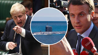 A row between Britain and France has been ignited by a security deal between Britain, the US and Australia