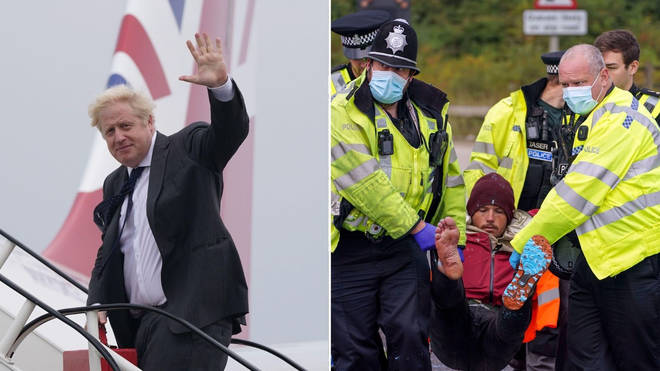 Boris Johnson has issued the criticism of the protesters who again brought the M25 to a standstill