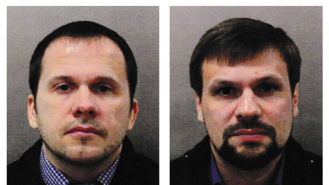 The alleged GRU operatives used aliases