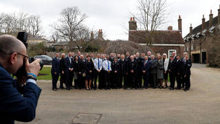 The winners from the 2018 Excellence Awards at a reception in Kensington Palace