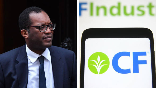 Kwasi Kwarteng agreed the deal with CF industries