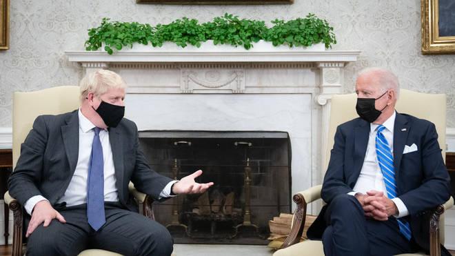 Prime Minister Boris Johnson met US President Joe Biden in the Oval Office of the White House