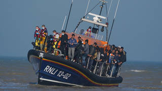 Migrants continue to attempt the Channel crossing.