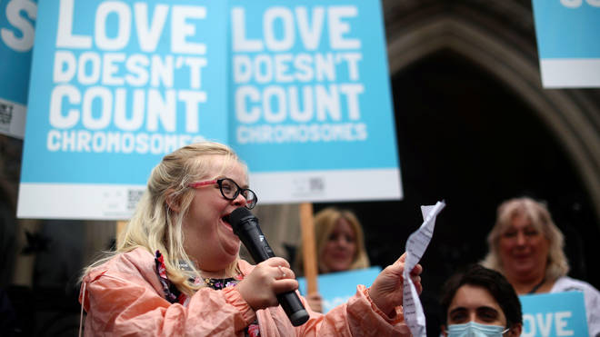 Heidi Crowter has campaigned against the Abortion Act section