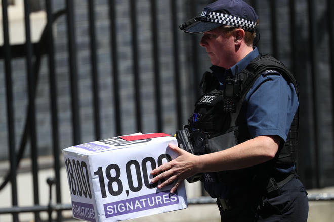Signatures were delivered to Downing Street as part of Ms Crowter's campaign