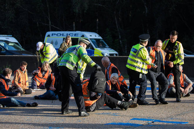 Police have arrested a number of Insulate Britain protesters (stock image).