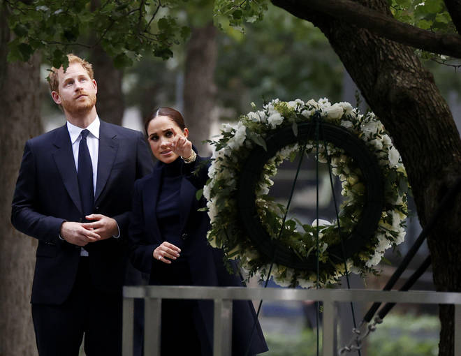 Harry and Meghan visited the 9/11 Museum