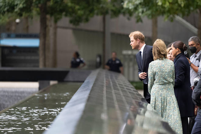 The couple toured the 9/11 Memorial in Lower Manhattan