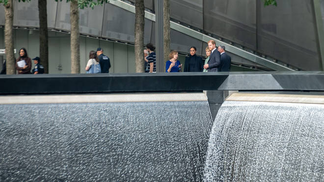 The memorial is built at the site of the attacks on the World Trade Center in 2001