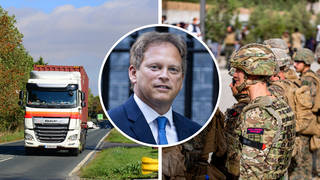 Grant Shapps said he is not ruling out bringing in the military to drive lorries amid a global shortage.