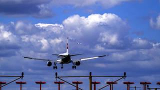 Plane takes off