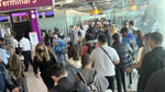 There are huge queues at Heathrow, Manchester, and Edinburgh airport as the e-gates have gone down.