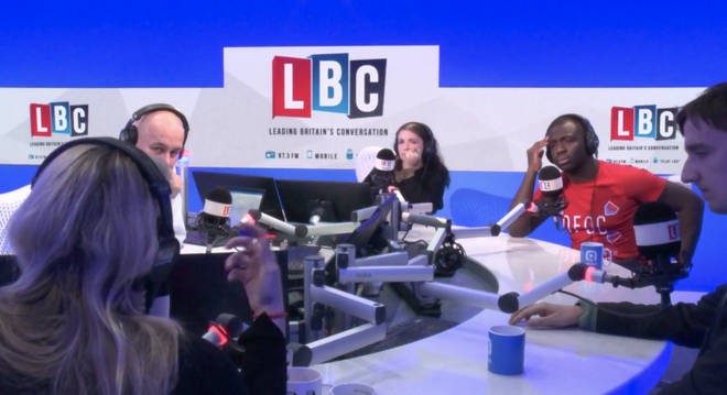 Iain Dale hosted a debate on Brexit in the LBC studio