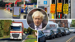 Panic-buyers have flocked to petrol stations across the UK over fears of a fuel shortage following a lack of lorry drivers.