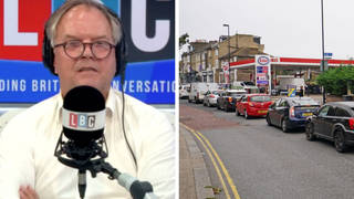 Panic-buying fuel is 'bad news' for business, petrol station owner tells LBC