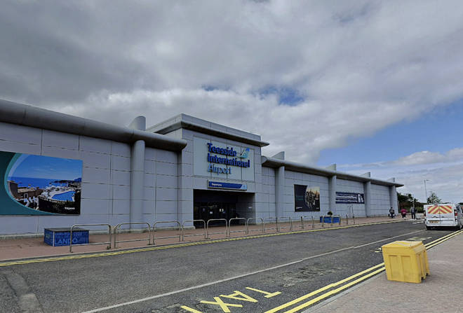 There has been an aircraft accident at Teesside International Airport.