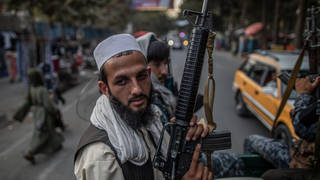 Taliban fighters have been enforcing the group's strict law