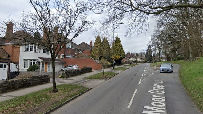 The attempted robbery took place in a leafy part of Birmingham