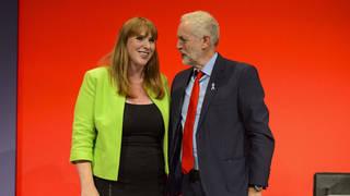 Mr Corbyn defended Angela Rayner