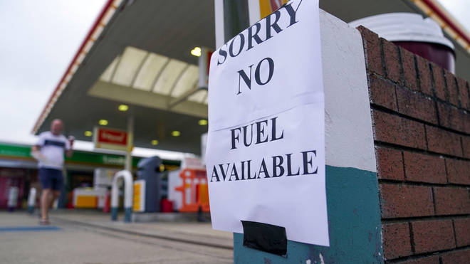 Pumps are running dry at some petrol stations amid panic buying