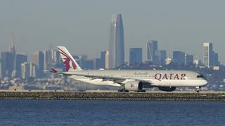 A Qatar Airways aircraft