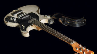 The 1965 Mosrite Ventures II electric guitar played by Johnny Ramone