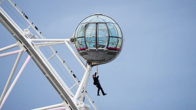 The stunt took place on the London Eye.