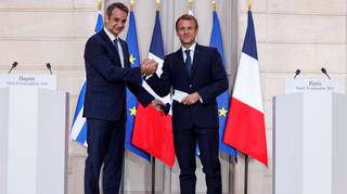 The Greek and French leaders