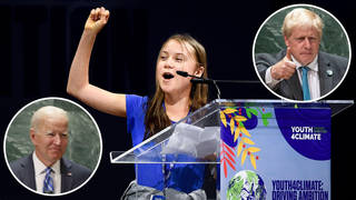 Greta Thunberg slammed Boris Johnson, Joe Biden and other world leaders for their lack of real action on tackling climate change.
