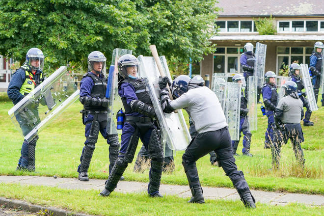 Police Scotland officers have been taking part in protest exercises ahead of COP26.