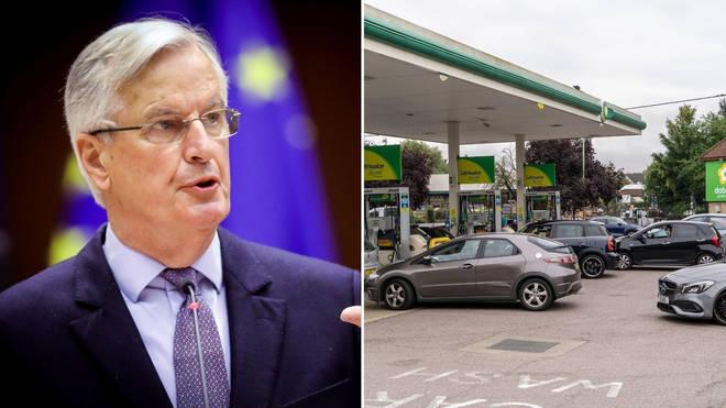 Michel Barnier has spoken out about the UK fuel crisis