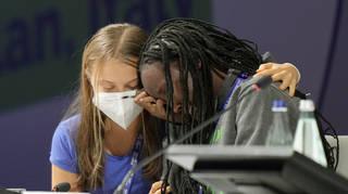 Greta Thunberg and Vanessa Nakate