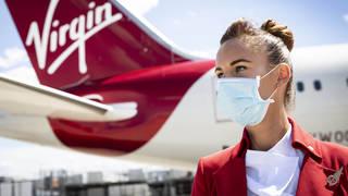 A Virgin Atlantic crew member