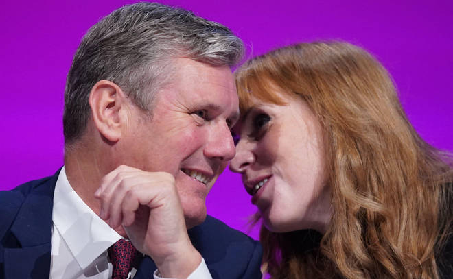 Sir Keir Starmer and Angela Rayner at this week's Labour Party conference