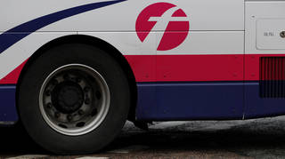 A bus tyre