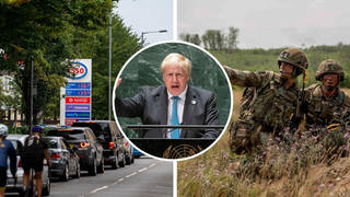 The military will drive tankers to get fuel to petrol stations
