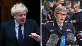 Boris Johnson has backed the police in the wake of anger at Sarah Everard's murder