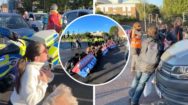 Tensions were high as motorists clashed with Insulate Britain in their eleventh protest in the last three weeks