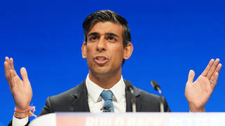 Rishi Sunak defended his tax hikes during his Conservative conference speech on Monday