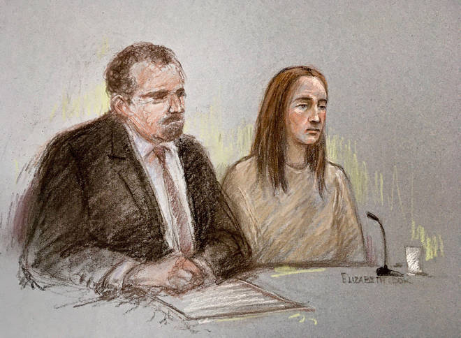 A court artist sketch of Lucy Letby from a previous hearing. She is set to stand trial in a year's time