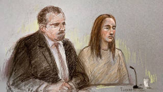 A court artist sketch of Lucy Letby from a previous hearing. She is set to stand trial in a year