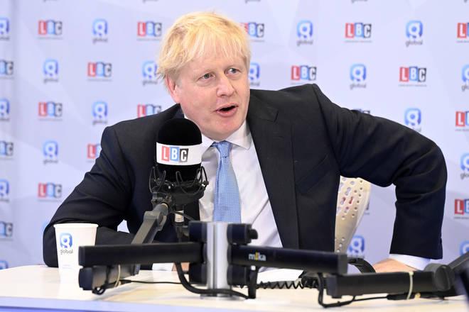 Boris Johnson told LBC that the Insulate Britain protests are 'insane'