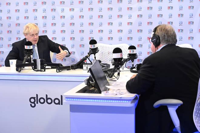 Boris Johnson told LBC the Insulate Britain protests are not legitimate