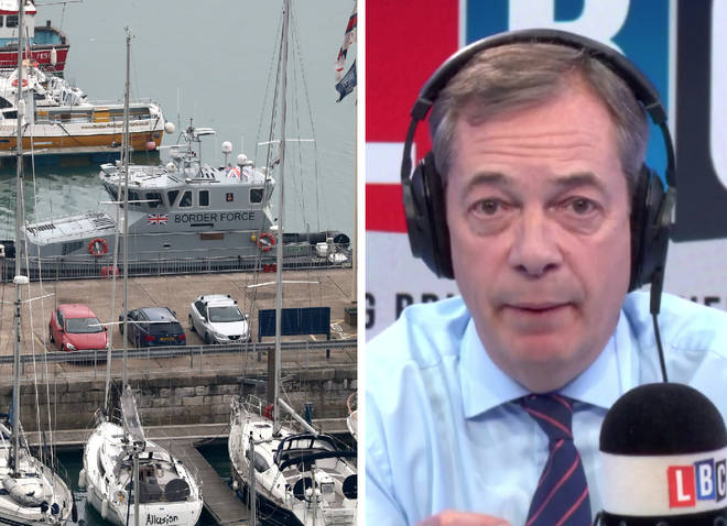 Nigel Farage demands action to stop migrants illegally crossing Channel