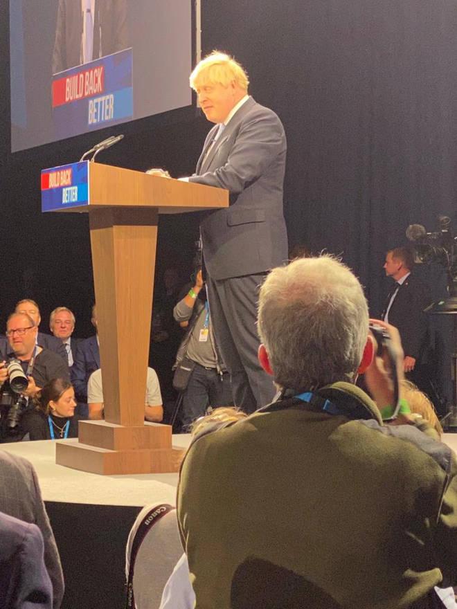 Iain had a front row speech for Boris Johnson's keynote speech